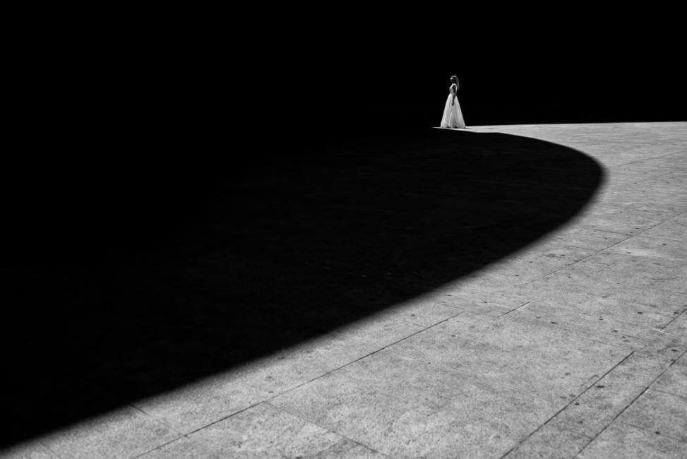 Novia en blanco y negro